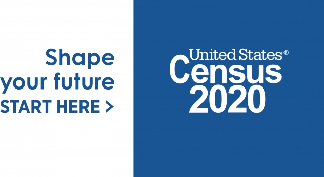 2020 Logo Census IN BOX Shape Your Future Blue Preferred